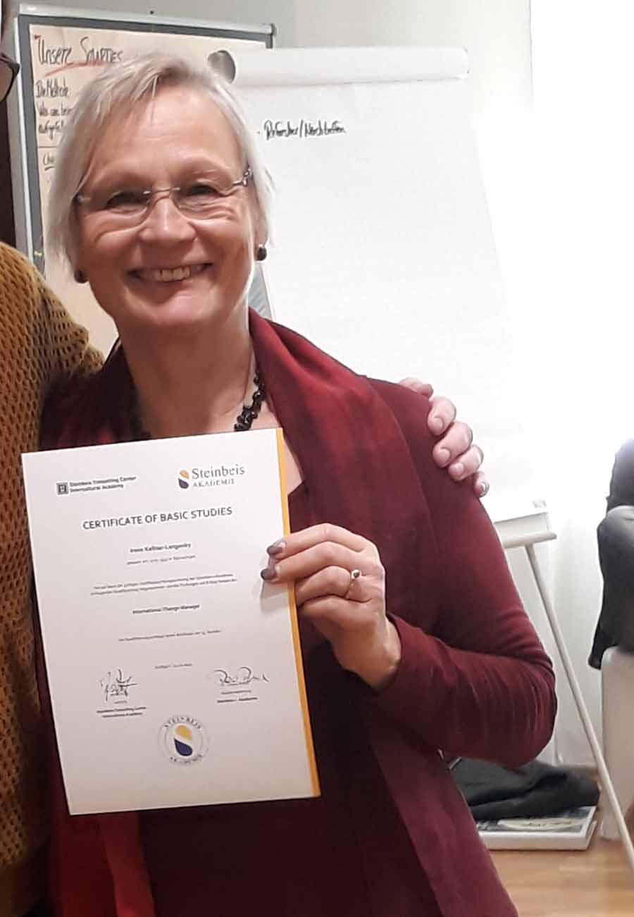 Teilnehmerstimme Irene Steinbeis zertifizierte systemische Coaching Ausbildung zum Business Coach