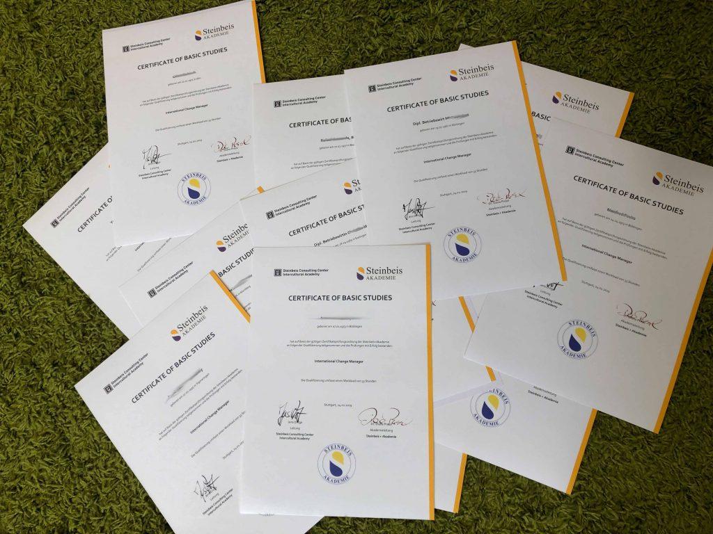 Wozu benötige ich eine Zertifizierung? was sind die Vorteile einer Zertifizierung? Eine Steinbeis-zertifizierte Change Manager Ausbildung ist Beweis Ihrer Fachkompetenz.